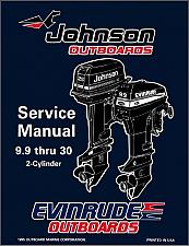 Buy Evinrude / Johnson 9.9 10 15 20 25 28 30 HP Outboard Motors Service Manual CD