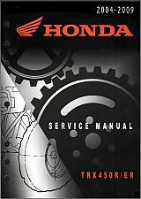 Buy 2004-2009 Honda TRX450R / TRX450ER Service Repair Shop Manual on a CD