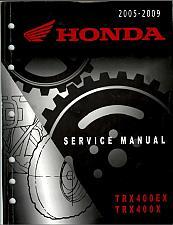 Buy 2005-2009 Honda TRX400EX / TRX400EX Sportrax Service Repair Shop Manual on a CD