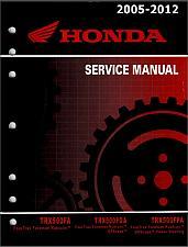 Buy 2005-2012 Honda TRX500FA Fourtrax Foreman Rubicon Service Shop Manual on a CD