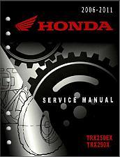 Buy 2006-2011 Honda TRX250EX / TRX250X Sportrax Service Repair Shop Manual on a CD