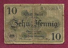 Buy GERMANY OSNABRÜCK 10 PFENNIG 1921 Black Stamped NOTGELD Banknote B039691