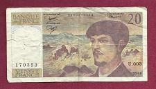 Buy FRANCE 20 Francs 1980 Banknote 0069170353 - Claude Debussy - WATERMARK (Debussy)