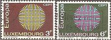 Buy [LU0489] Luxembourg: Sc. no. 489-490 (1970) Used Complete Set