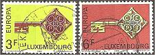 Buy [LU0466] Luxembourg: Sc. no. 466-467 (1968) Used Complete Set