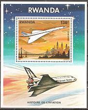 Buy [RW0893] Rwanda: Sc. no. 893 (1978) MNH Miniature Sheet