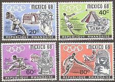 Buy [RW0250] Rwanda: Sc. no. 250-253 (1968) MNH Complete Set