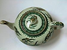Buy Japan Green Dragon with Gold Decoration Porcelain Tea Pot with Signature on the Botto