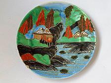 Buy 19 Century Japan Porcelain Plate Satsuma with Gold Decoration and Signature - Kozan/S