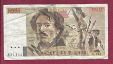 Buy FRANCE 100 FRANCS 1989 NOTE 831142 Eugene Delacroix KM154 Liberty Leading People