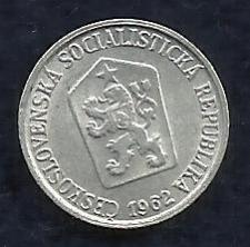 Buy CZECHOSLAVAKIA 1 Heller 1962 Coin - Crowned Czech Lion