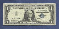 Buy US 1957 $1 Dollar Banknote # A37625954B - SILVER CERTIFICATE !!! - Blue Seal