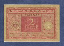 Buy GERMANY 2 Mark 1920 Banknote No 28-815630 - WEIMAR REPUBLIC P59 - UNC