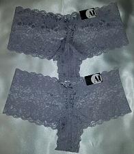 Buy 2 Pairs A&I Lace Boyshort Panties Lite Purple Lilac Size 8 XL Boy Shorts Hipster