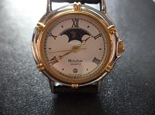 Buy GENUINE LADIES BULOVA MOONPHASE QUARTZ WATCH SS/18KG CAPPED CROWN & BEZEL.