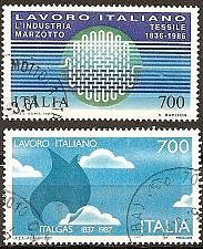 Buy [IT1702] Italy: Sc. no. 1702-1703 (1987) Used Complete Set