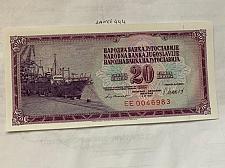 Buy Yugoslavia 20 dinara unc. banknote 1981