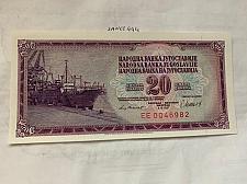 Buy Yugoslavia 20 dinara unc. banknote 1981 a