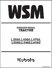 Buy Kubota L3560 L4060 L4760 L5060 L5460 L6060 Tractor WSM Service Repair Manual CD