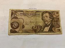 Buy Austria 20 schillings circulated banknote 1967