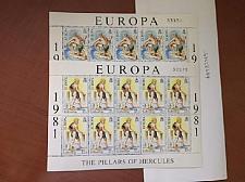 Buy Gibraltar Europa m/s 1981 mnh stamps