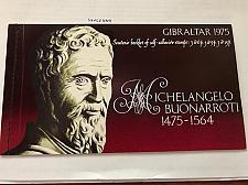 Buy Gibraltar Michelangelo booklet mnh 1975 #ab stamps