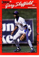 Buy Gary Sheffield #510 - Brewers 1990 Donruss Baseball Trading Card