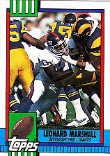 Buy Leonard Marshall #55 - Giants 1990 Topps Football Trading Card