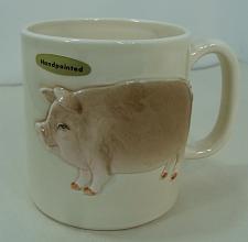 Buy New Vintage 1982 Otagiri Pig Mug Handpainted Made in Japan 12 oz Original Tags