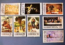 "Buy 1969 Liberia ""Paintings"" 2 complete sets of ""paintings on stamps"""