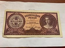 Buy Hungary 1 BILLION pengo banknote 1946 a