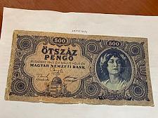 Buy Hungary 500 pengo banknote 1945