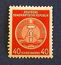 "Buy 1954 Germany (DDR-Era) Administration Post ""Official Arms of the Republic"""