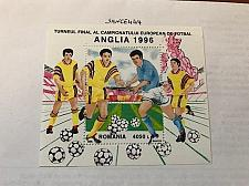Buy Romania European football games s/s mnh 1996 stamps