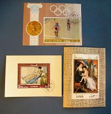 Buy 1968-70 Ajman Paintings and Olympic Games Souvenir Sheets