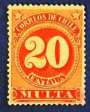 "Buy 1898 Chile ""International Postage Due"" Stamp"