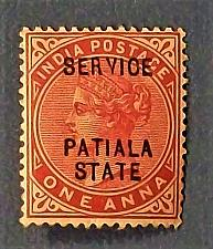 "Buy 1898 India ""Overprint - Patiala State"