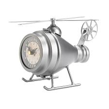 Buy SILVER HELICOPTER DESK CLOCK