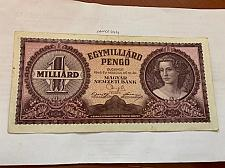 Buy Hungary 1 BILLION pengo banknote 1946
