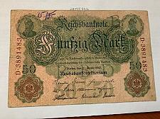 Buy Germany 50 mark banknote 1910