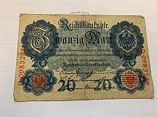 Buy Germany 20 mark banknote 1914