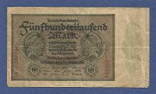 Buy GERMANY 500000 Mark 1923 P-88b Banknote 34B050284 - Jacobite / Weimar Inflation NotE