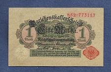 Buy GERMANY 1 MARK 1914 BANKNOTE 852-773117 Red Seal, Darlehnskassenschein