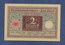 Buy GERMANY 2 Mark 1920 Banknote No 167-995827 - WEIMAR REPUBLIC P60 - UNC
