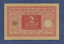 Buy GERMANY 2 Mark 1920 Banknote No 61-387906 - WEIMAR REPUBLIC P59 - UNC