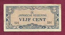 Buy Japan - 5 Cent 1942 Note SH Netherlands West Indies - Histoic WWII Invasion Money