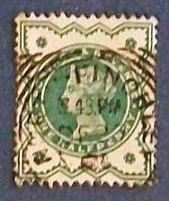 "Buy 1900 Great Britain ""Queen Victoria-Postage and Revenue-bluish green"""
