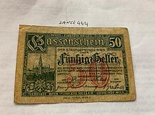 Buy Austria 50 heller local banknote 1920