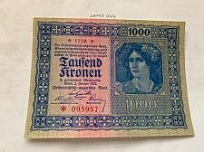 Buy Austria 1000 kronen unc. banknote 1922