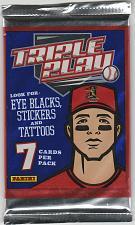 Buy 5 Packs of 2013 Panini Triple Play Baseball cards, unopened. 7 cards per pack